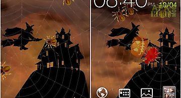 Halloween: spiders Live Wallpape..