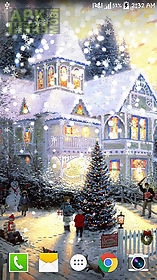 painted christmas live wallpaper