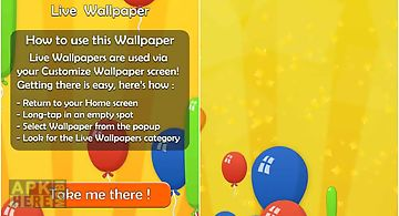 Party balloons live 3d wallpaper..