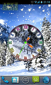 winter snow clock live wallpaper