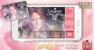 Lovely photo frames pic editor