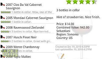 Wine - list, ratings & cellar