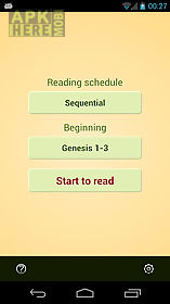 Bible reading schedule for Android free download at Apk Here