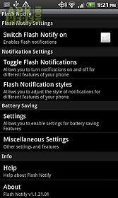 flash notify