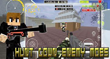 Mine gun 3d - cube fps