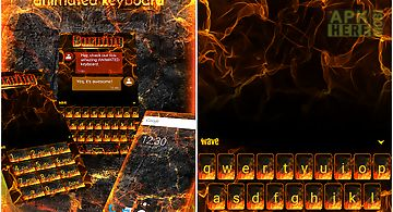 Burning animated keyboard