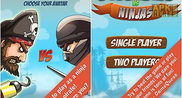 Pirate vs ninja 2 player game