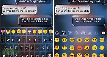 Smile emoji keyboard theme