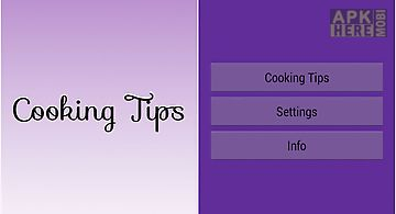 Cooking tips and manage