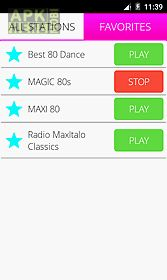 80s Music Radio App For Android Description Listen To Online Many Stations With Different Genres Like Pop Rock New Wave