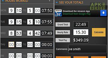 Time card calculator-timeclock