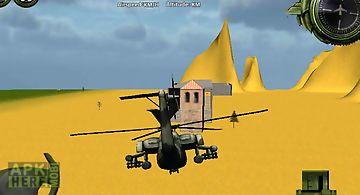 Combat helicopter 3d flight