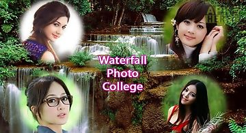 Waterfall photo collage frames