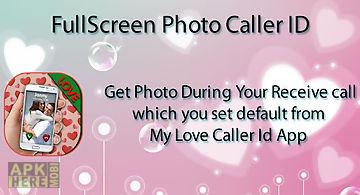 Love theme photo caller id
