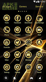 luxury gold go launcher theme
