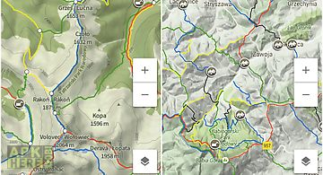 Hiking map poland