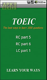 1000 toeic test; lc and rc