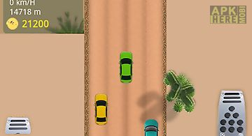 Car racing desert