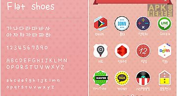 Flatshoes dodol launcher font