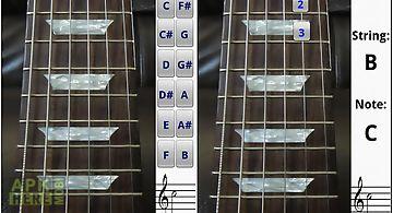Electric guitar fretboard free