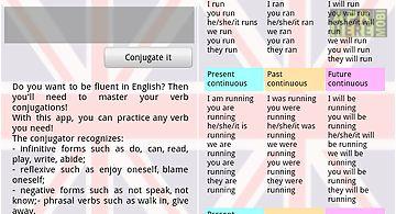 English verbs conjugator