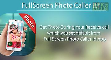 Full screen photo caller id