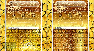 Gold keyboard themes