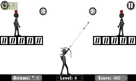 dark man archery apple shooter