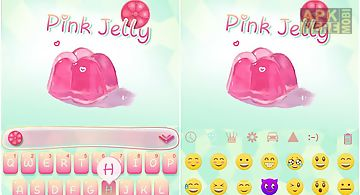 Pink jelly kika keyboard theme