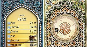 Salat timings alarm and qibla