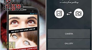 Sharingan real eyes editor