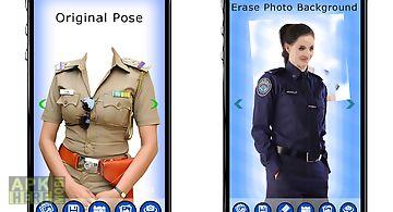 Women police dress photo suit