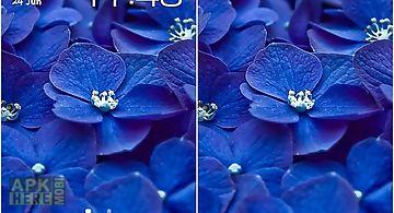 Blue flowers Live Wallpaper