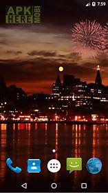 christmas fireworks lwp live wallpaper