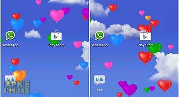 Heart balloons  Live Wallpaper
