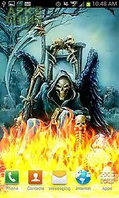 grim reaper color flames  live wallpaper