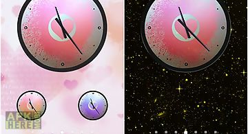 Love: clock Live Wallpaper