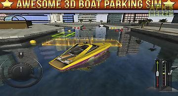 3d boat parking simulator game