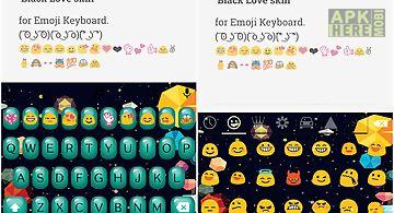 Bubble love emoji keyboard
