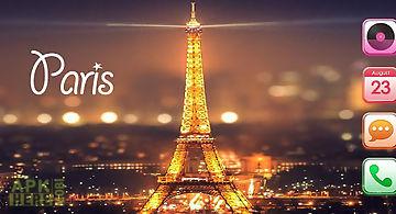 Paris night eiffel tower theme