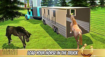 Transporter truck horse stunts