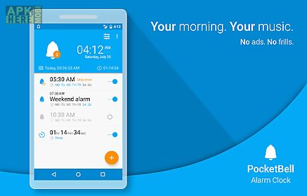 Radio alarm clock - pocketbell for Android free download at