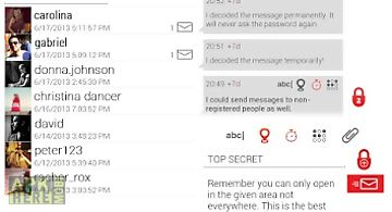 Secure send private messenger