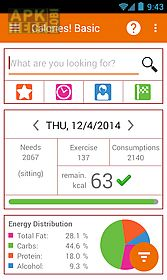 calories carb prot fat counter for android free download at apk here