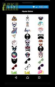 hipster sticker photo editor