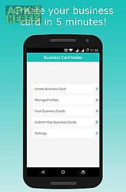 Business card maker for android free download at apk here store business card maker for android fbccfo Gallery