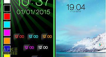 Neon digital clock