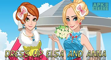 Dress up elsa and anna bridesmai..