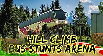 Hill climb bus stunts arena