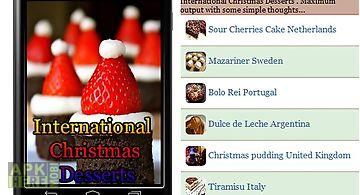 International christmas desserts